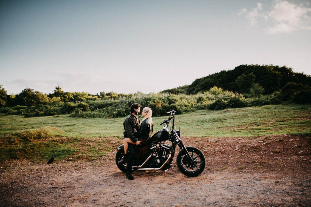 Motorcycle Themed Couple Photos