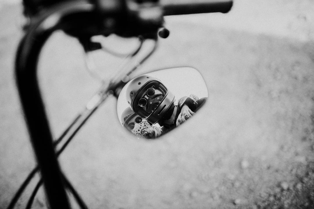 motorcycle wing mirror reflection
