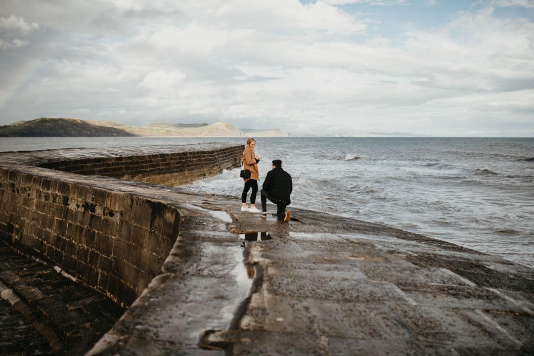 wedding proposal Lyme Regis